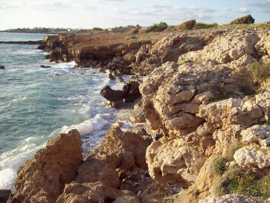 Rotsen en water Paphos Cyprus