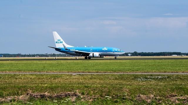 Schiphol Amsterdam Airport vliegtuig KLM