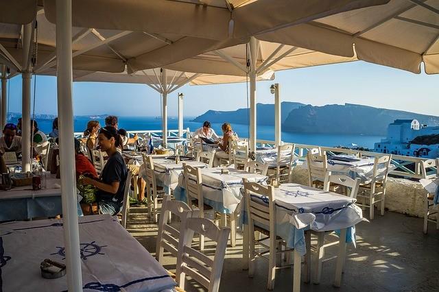 Griekenland restaurant aan zee