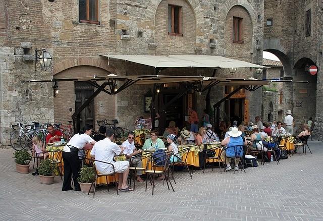 Vakantie Italië restaurant