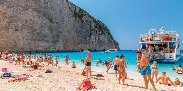 Zakynthos Griekenland zomer strand mensen