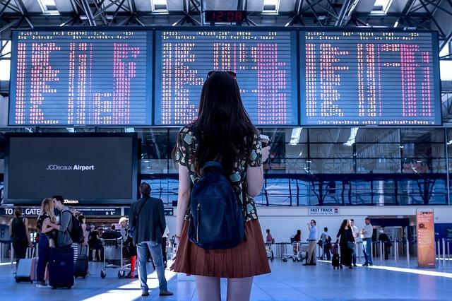 Luchthaven vervoer vrouw