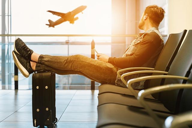 Wachtruimte op de luchthaven