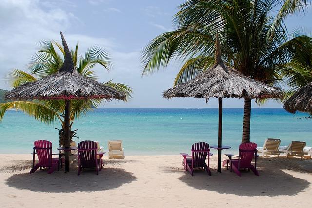 Strand zonvakantie zee stoelen