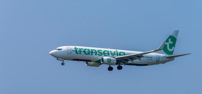 Luchtvaartmaatschappij Transavia vliegtuig