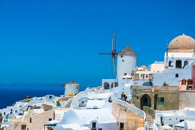 Griekse eilanden Santorini zonvakantie