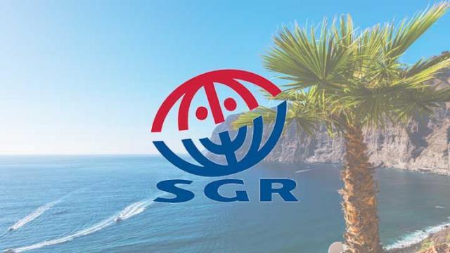 SGR palmbomen zee vakantie zon