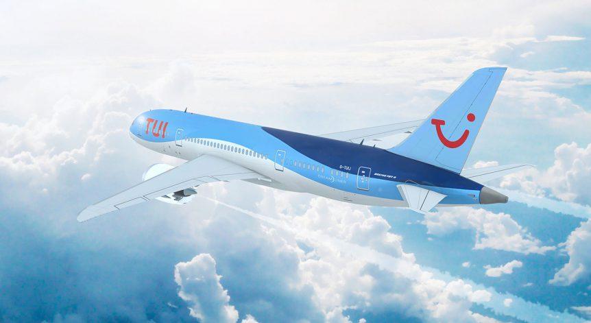 TUI reisorganisatie vliegtuig