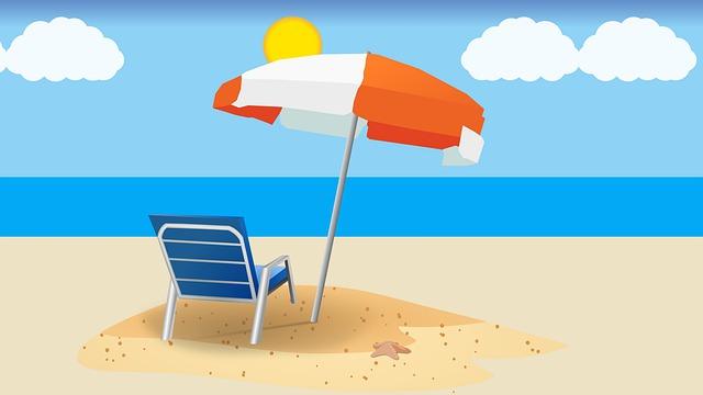 Zomervakantie strand zee stoel parasol