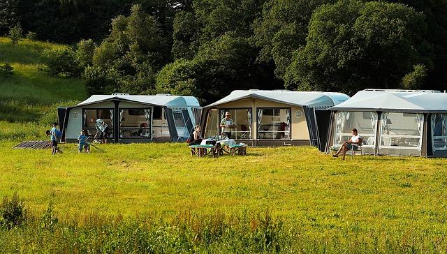 Buiten kamperen tenten