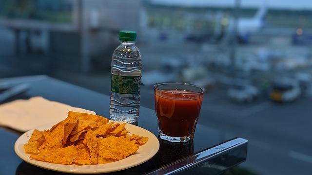 Luchthaven business lounge eten drinken