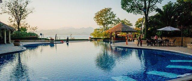 Luxe vakantie hotel zwembad